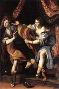 Joseph and Potiphar's wife 1610 Galleria Borghese Rome